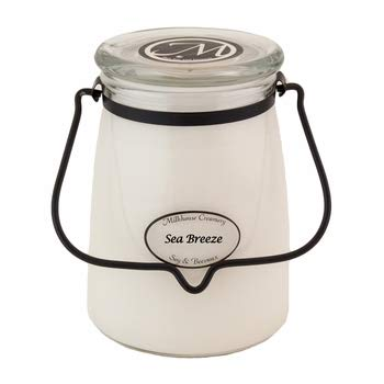 Milkhouse Candle Creamery Scented Soy Candle: Butter Jar Candle, Sea Breeze, 22-Ounce