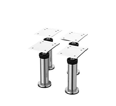 """IKEA - CAPITA Leg, Stainless Steel 4 3/8-4 3/4"""" (X4)"""