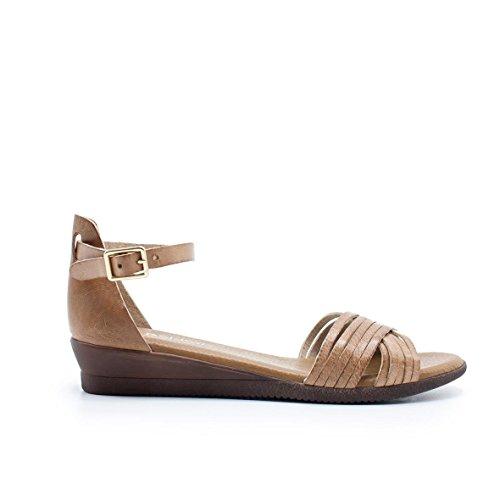 89874fe3 En venta ZAPSHOP 408705 Sandalias Planas 100% Piel de Tiras en Dedos para  Mujer de