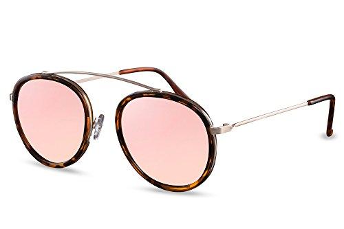 Cheapass Sunglasses Lunettes Rondes John Lennon Rétro Classique Miroitant Or Rétro Unisexe Rose7