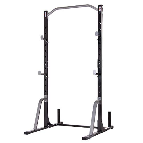 Body Champ Power Rack System with Olympic Weight Plate Storage PBC530