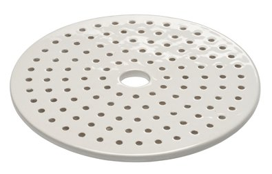 Porcelain Desiccator Plate, Perforated, with Center Hole - Porcelain Desiccator Plate, Chemglass