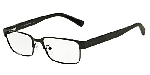 Armani Exchange AX1017 Eyeglass Frames 6000-54 - Black - Optical Armani Glasses