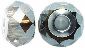 Swarovski 5940 Briolette Rondelle Bead, Crystal Finish, 14mm, Bronze (Mm Briolettes Crystal)