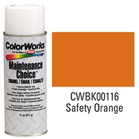 Krylon Industrial Colorworks Enamel Safety Orange - Lot of 6