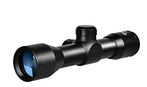 CVLIFE 4x32 Compact Rifle Scope Crosshair Optics Hunting Gun Scope with 20mm Free Mounts (Best Compact Rifle Scope For The Money)