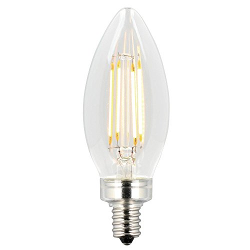 Westinghouse Lighting 5062000 60-Watt Equivalent B11 Dimmable Clear Filament Energy Star LED Light Bulb with Candelabra Base, 2 Pack, - Candle Westinghouse