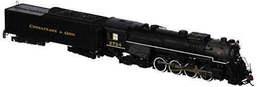 Bachmann Industries C&O Kanawha #2724 N Scale 2-8-4 Berkshire Steam Locomotive & Tender ()