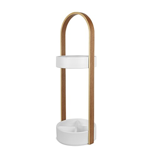 Umbra Hub Umbrella Stand, Space-Saving Umbrella Stand, Great for the Front Door/Entryway, White Natural by Umbra (Image #3)