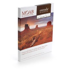 Moab Entrada Rag Fine Art, 2-Side Natural Matte Inkjet Paper, 22.5 mil., 300gsm, 13x40