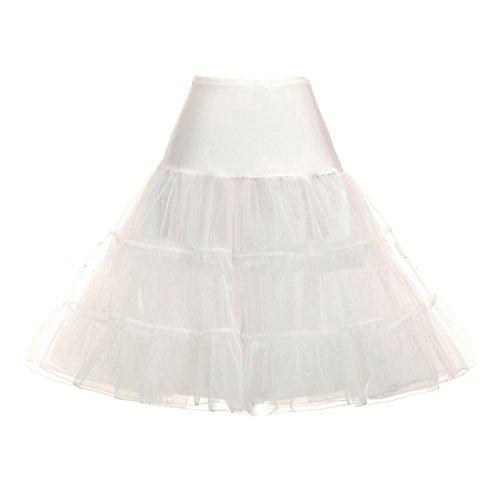 Mujer Enaguas Tutú Con Blanco Crinolina Ecyc® Falda A02 Enagua De wHvBqxOtS