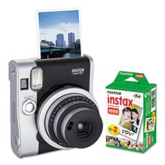 Fujifilm 600016090 Instax Mini 90 Neo Classic Camera Bundle, Auto Focus, Black