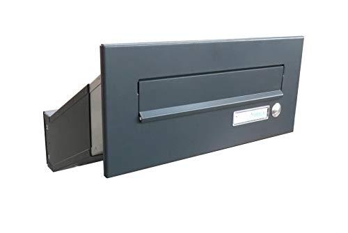 D-041 Anthrazit (RAL 7016) Mauerdurchwurf Briefkasten mit ...