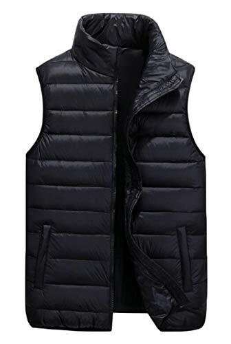 Lightweight Ultra Stand Vest Down Black Vest Jacket Collar TTYLLMAO Men's Packable q6IwZXS