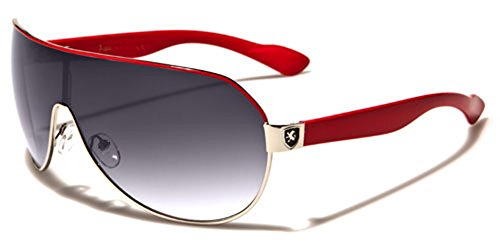 Men's Flat Top Sport Shied Aviator Sunglasses - Multiple - Sunglasses Red Men