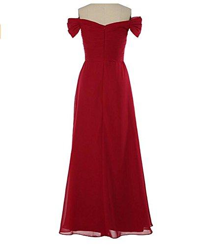 KA Beauty - Vestido - para mujer Rosso