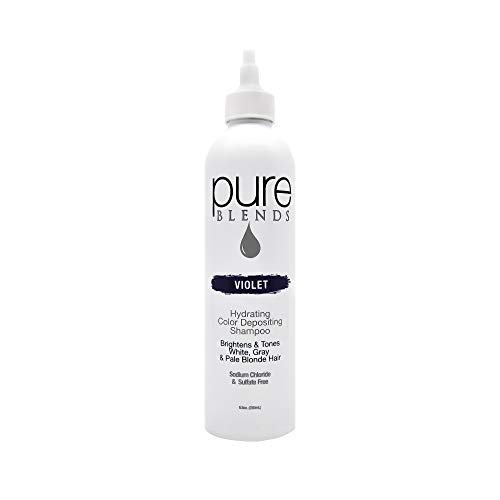 Pure Blends Hydrating Color Depositing Shampoo, Violet, White, Gray and Pale Blonde Hair, 8.5 oz.
