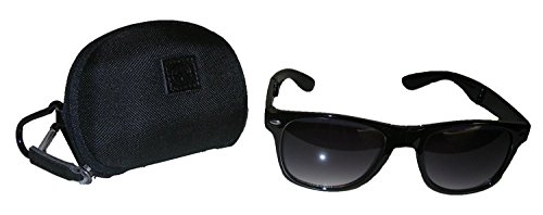 JetSetter Foldable Sunglasses with Designer Case, Classic Black