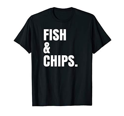 Fish and Chips Shirt I Love Seafood Beach Vacation Xmas Gift