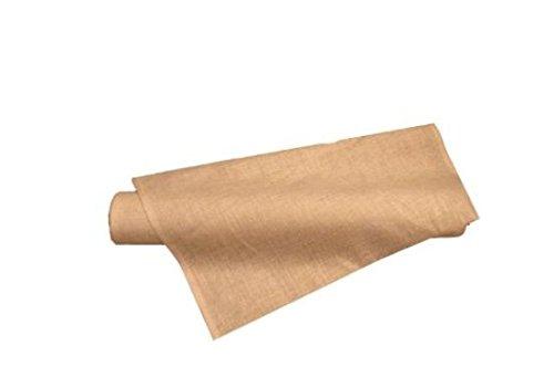LA Linen Roll Burlap Fabric, 40-Inch Wide by 1-Yard Long, Natural, 1 yd Folded,
