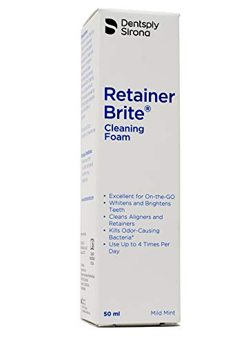 Retainer Brite Cleaning Foam – Cleans Invisalign and Retainers While Whitens Your Teeth