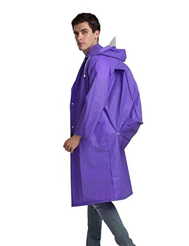 Ragazza Unisex Poncho Chic Con Hx Esterno In Eva Antipioggia Unita Cappuccio Per Fashion Giacca Impermeabile Cappuccio Violett Tinta 5F5qnXaw