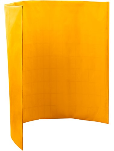 Steiner 431-3X4 Port-O-Screen Portable Welding Screen with 13-Ounce Flame Retardant Vinyl Laminated Polyester Curtain, Yellow, 3' x 4'