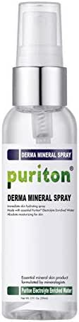 Puriton Derma Mineral Spray, Moisturizing and Hydrating Electrolyte Water for Skin (2 Oz)