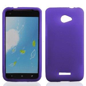 Bundle Accessory for Verizon HTC Droid DNA 6435 - Purple Silicon Skin Soft Case Protector Cover + Lf Stylus Pen + Lf Screen (Cover Htc Droid Dna 6435)