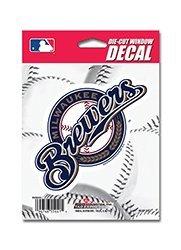 MLB Milwaukee Brewers Die-Cut Window Decal (Milwaukee Brewers Mlb Car)