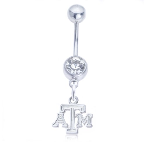 Texas A&M Belly Button Ring