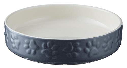 Mason Cash Cat Bowls Bright Coloured Cat Saucer Heavyweight, 13 cm Diameter, Grey