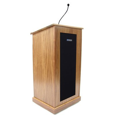 (AmpliVox Chancellor Lectern - Wired Sound, Natural Cherry APLS470CH)