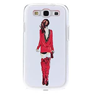 Elegant Back of Woman Pattern Hard Case with Rhinestone for Samsung Galaxy S3 I9300