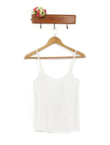 FS00024WH12, White, 10US, Ever Pretty Cute White Spaghetti Straps Modal Tank Top Camisole Cami Vest 00028