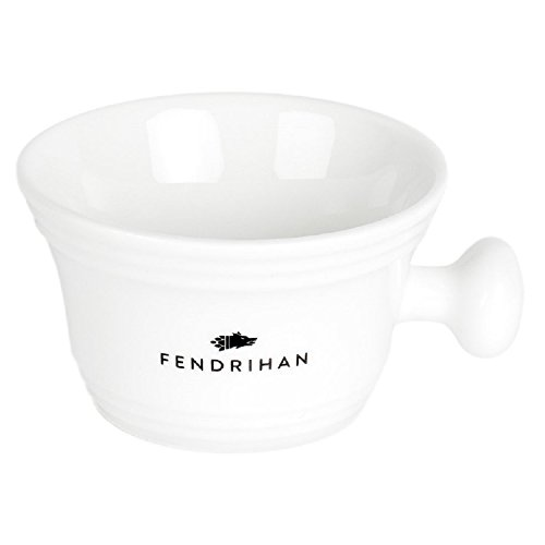 Fendrihan Genuine Porcelain Apothecary Shaving Mug, White