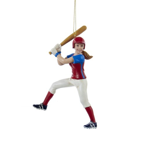 Softball Figure - Kurt Adler Softball Girl Figure Christmas Ornament