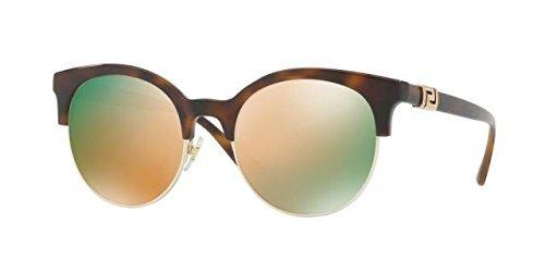 Versace 0Ve4326B, Gafas de Sol para Mujer, Havana/Pale Gold ...