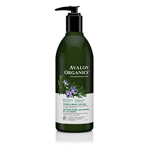 Avalon Organics Rejuvenating Rosemary Hand & Body Lotion, 12