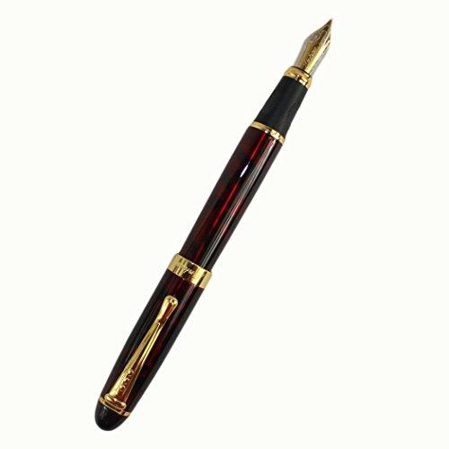 TINYPONY Fashion Elegant Jinhao 450 Dark Red Fountain Pen with Golden Clip