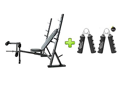 Miraculous Golds Gym Xr 10 1 Olympic Weight Bench Accommodates Olympic Width 6 And 7 Bars With Hand Grips Durable Spring Pair Bundle Set Unemploymentrelief Wooden Chair Designs For Living Room Unemploymentrelieforg