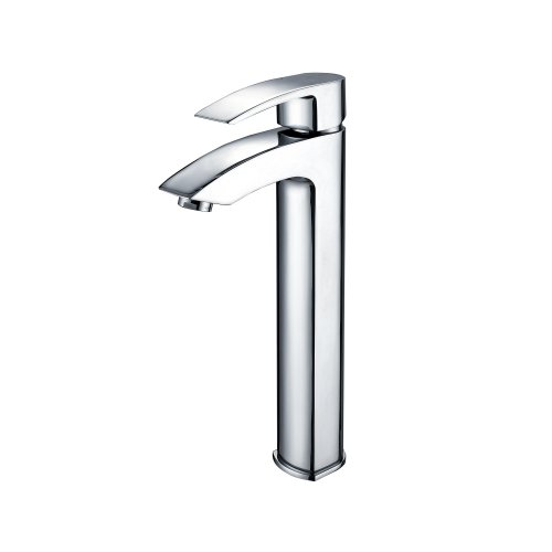 Single Visio Hole - Kraus FVS-1810CH Visio Single Lever Vessel Bathroom Faucet Chrome