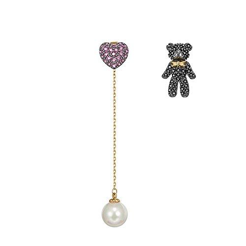 - YADEER Women's 925 Sterling Silver Diamond Earrings Threader Drop Dangle Earrings bear