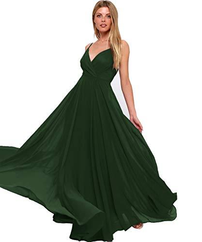 706c5292183 ... Bridesmaid Dress Plus Size Long Formal Wedding Evening Gown Dark Green  US24W.   