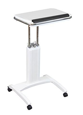 Ioneyes Desk Adjustable Tan White Cart Up Stand To Sit Height Tech Versa Designs