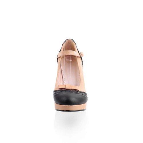 Carol Shoes New Womens Platform High Heel Pumps Shoes apricot MUY4h5eH