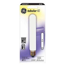 Ge Tubular Light Bulb 40 W 380 Lumens T6-1/2 Intermediate 5-1/2 In. Clear Carded (Clear Tubular Carded Light Bulb)
