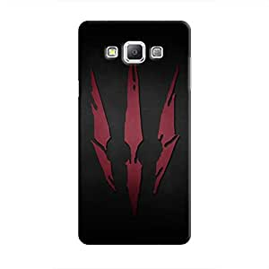 Cover It Up - Red Clawmarks Galaxy A7 Hard Case