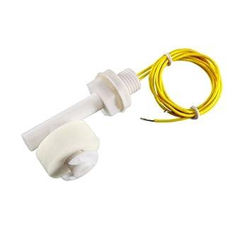 uxcell blanco del sensor de nivel de agua PP interruptor de flotador de ángulo recto