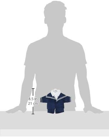 Puppenmode Sturm Dolls Fashion 8984-T30 Storm Sailor Suit for Teddy Navy Blue